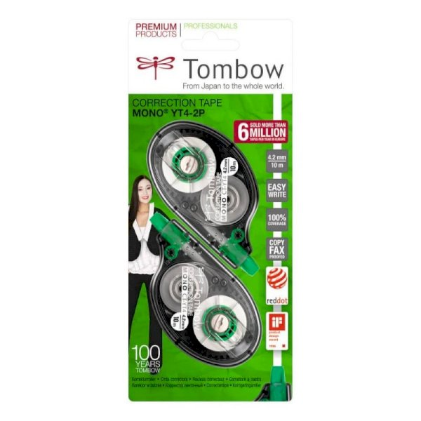 Correttore a nastro Tombow MONO Tape Control System 4,2 mm x 10 m blister 2 pz. - CT-YT4-2P