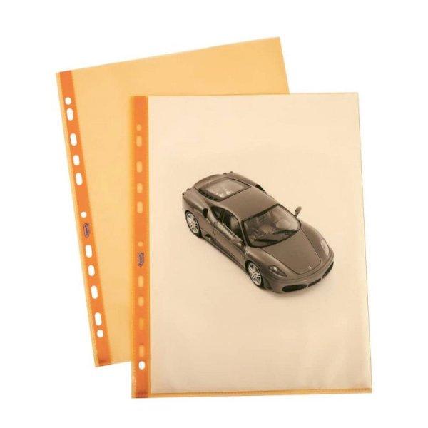Buste a foratura universale lisce FAVORIT Art Superior 22x30 cm arancione conf. da 25 - 100206798