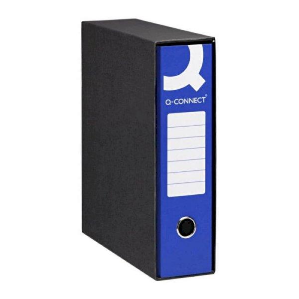 Registratore commerciale Q-Connect con custodia dorso 8 cm blu 23x30 cm - 0201990/Q.BL