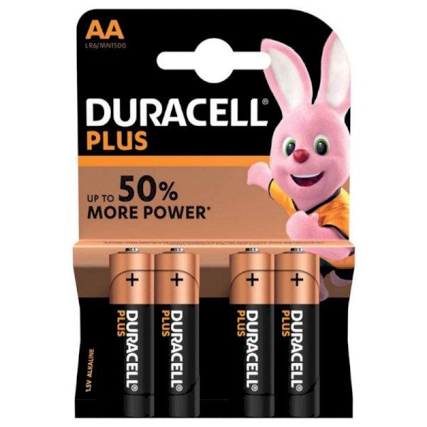 Batterie alcaline Duracell Plus Power Stilo 1500 mAh AA conf. da 4 - DU0100