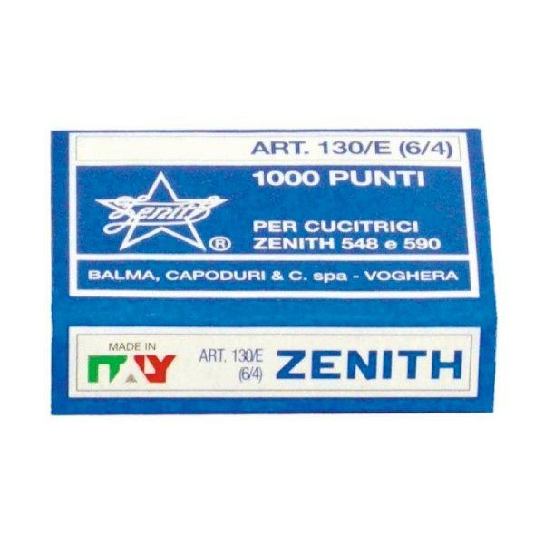 Punti metallici ZENITH 130/E 6/4  Conf. 1000 pezzi - 0311301401