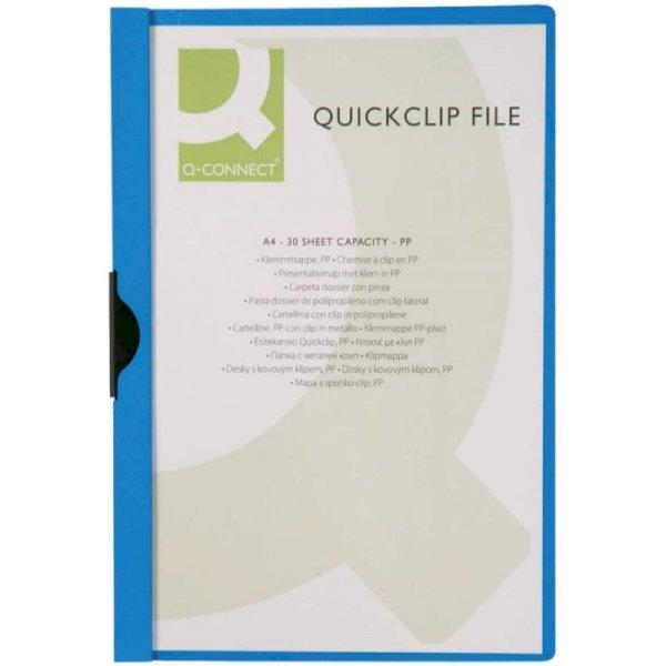 Cartellina con clip Q-Connect PVC 22x30,7 cm blu scuro KF00462