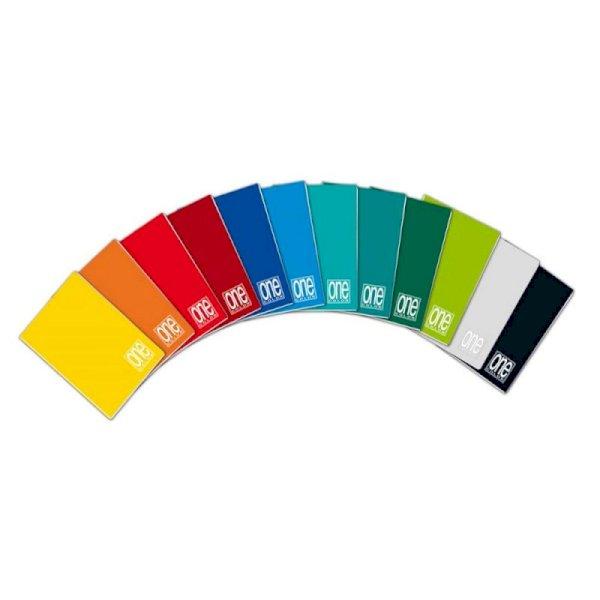 Quaderno a righe One Color A5 a punto metallico colori assortiti rigatura C - 1405