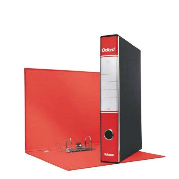 Registratore con custodia Esselte G84 Oxford protocollo 29,5x35 cm - dorso 5 cm rosso - 390784160