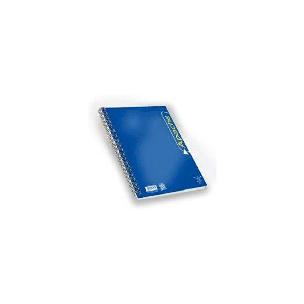 Blocco spiralato Pigna Apache quadretti 4M - A4 140 fogli assortiti - 02138064M