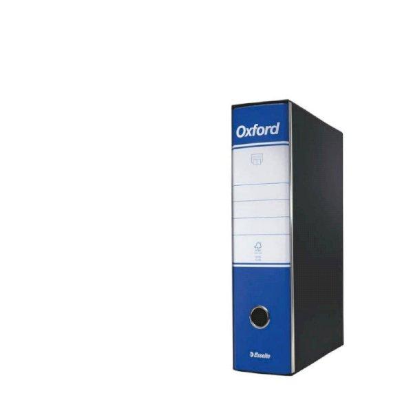 Registratore con custodia Esselte G85 Oxford protocollo 29,5x35 cm - dorso 8 cm blu - 390785050