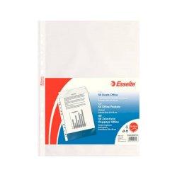 Buste a perforazione universale goffrate Esselte OFFICE 22x30 cm trasparente antiriflesso  conf.50 - 395097100
