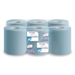 Asciugamani industriali multiuso 2 veli Lucart blu 21 cm x 135 m 6 rotoli da 450 strappi - 852105