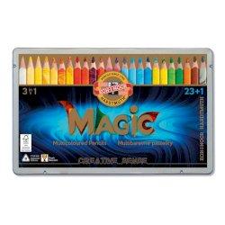 Astuccio matite multicolore KOH-I-NOOR legno di cedro 23 colori 23 matite + 1 blender - H3408024