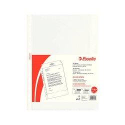 Buste a perforazione universale goffrate Esselte ESSENTIALS PP antiriflesso 22x30 cm conf.100 - 392797000