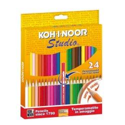 Astuccio matite colorate KOH-I-NOOR Legno 24pz - DH3325