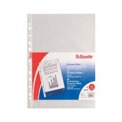 Buste a perforazione universale goffrate Esselte OFFICE 21x29,7 cm trasparente antiriflesso  conf. da 50 - 395075300