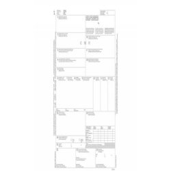 Lettera di vettura internazionale (CMR) data ufficio snap out-21x31 cm 50x5 copie autoricalc. - cf 50 pz DU183160000