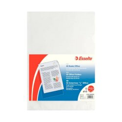Buste a L non perforate Esselte OFFICE PP antiriflesso trasparente 22x30 cm goffrate conf.50 - 395082000
