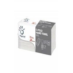 Asciugamani interfogliati piegati a C Papernet 2 veli - 23x32 cm - bianco - fascetta da 152 fogli - 400790