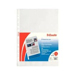 Buste a perforazione universale goffrate Esselte DELUXE 21x29,7 cm trasparente antiriflesso  conf. da 50 - 395074300