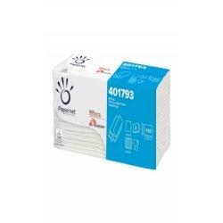 Asciugamani interfogliati piegati a Z Papernet 2 veli - 23x23,5 cm - bianco - fascetta da 143 fogli - 401793