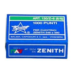 Punti metallici ZENITH 130/Z6 6/6  Conf. 1000 punti - 0301303601