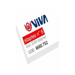 Punti metallici per cucitrici Viva 6/4 passo 6 mm argento conf. da 2000 - 6660.752