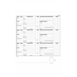 Registro carico-scarico rifiuti Mod. A per detentori Data Ufficio - 100 copie A4 - DU165820000