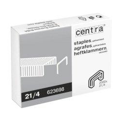 Punti per cucitrici CENTRA 21/4 mm passo 6 conf. da 2000 - 623698