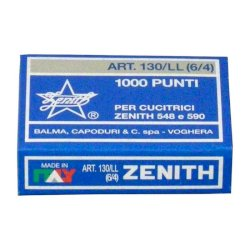 Punti metallici ZENITH 130/LL 6/4  Conf. 1000 punti - 0301306401