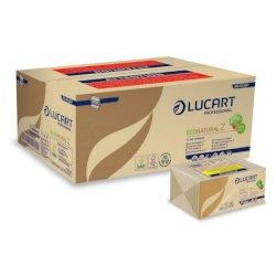 """Asciugamani piegati a """"Z"""" Lucart EcoNatural Z 23x23,5 cm avana conf. da 220 ff - 864036P"""