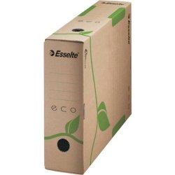 Scatola archivio Esselte ECOBOX dorso 8 cm avana/verde 8x23,3x32,7 cm 623916