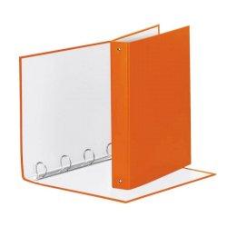 Raccoglitore Esselte Meeting a 4 anelli tondi 30mm cartone rivestito in PP arancione 22x30cm dorso 4cm - 395792200