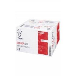 Asciugamani piegati a V Papernet Defend Tech - 2 veli 22x21 cm bianco - pura cellulosa - 15 fascette da 210 ff 417820