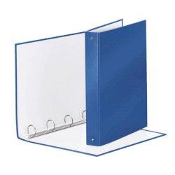 Raccoglitore Esselte Meeting a 4 anelli tondi 30mm cartone rivestito in PP blu metallizz. 22x30cm dorso 4cm - 395792960