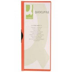 Cartellina con clip Q-Connect PVC 22x30,7 cm rosso KF00461