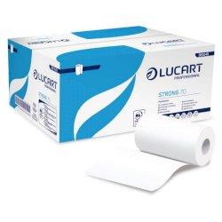 Asciugamano Lucart Strong 70 m 2 veli pura cellulosa cartone da 12 rotoli - 861049