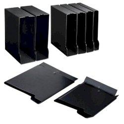 Custodia per raccoglitori Sei Rota 30 A4 f.to esterno 26,5x32 cm - dorso 4,5 cm nero - 67143010